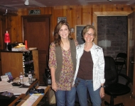 Alison Krauss and Louisa in the studio